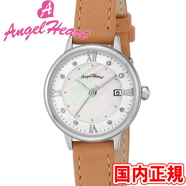 エンジェルハート 腕時計 レディース リュクス ソーラー ホワイトMOP/シルバー Angel Heart Luxe LU26S-BW 安心の正規品 代引手数料無料 送料無料