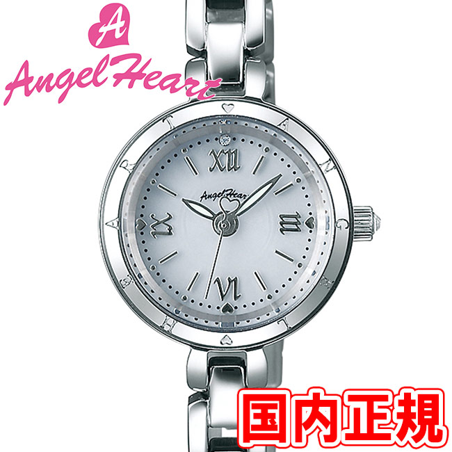 エンジェルハート レディース腕時計 ピュア・エンジェル 22mm シルバーダイヤル/シルバー メタルブレス スワロフスキー Angel Heart Pure Angel PA22SW 安心の正規品 代引手数料無料 送料無料