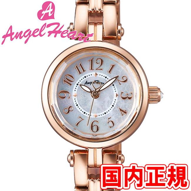 エンジェルハート レディース腕時計 サニードリーム 22mm ホワイトパールダイヤル/ピンクゴールド メタルブレス スワロフスキー Angel Heart Sunny Dream SD22PG 安心の正規品 代引手数料無料 送料無料