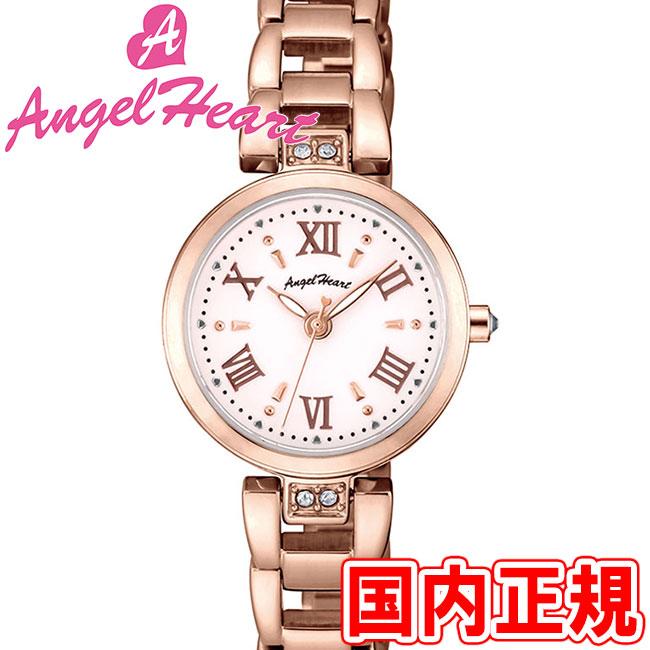 エンジェルハート レディース腕時計 スパークルタイム 24mm ソーラー電池(太陽電池) ホワイト/ピンクゴールド メタルブレス スワロフスキー Angel Heart ST24PG 安心の正規品 代引手数料無料 送料無料