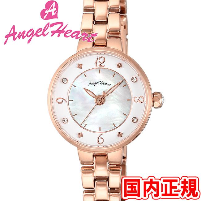 エンジェルハート 腕時計 レディース トゥインクルハート ホワイトMOP/ピンクゴールド Angel Heart Twinkle Heart TH23PG 安心の正規品 代引手数料無料 送料無料 あす楽 即納可能