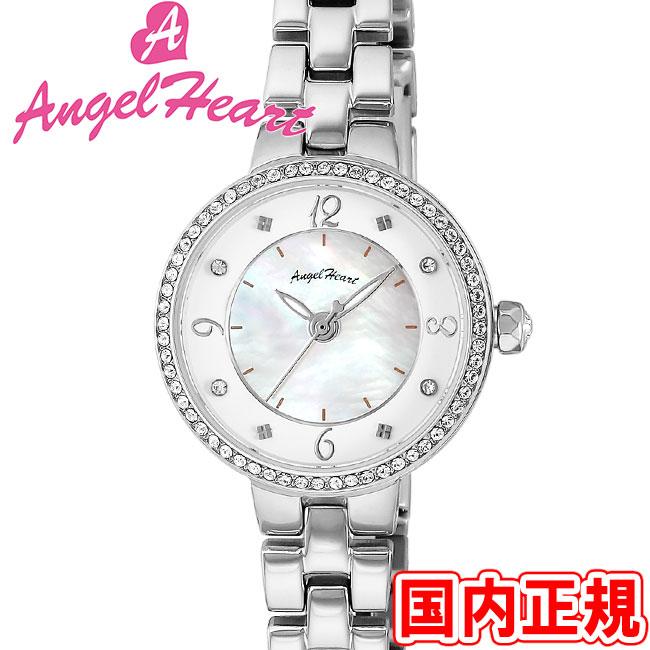 エンジェルハート 腕時計 レディース トゥインクルハート ソーラー ホワイトMOP/シルバー メタルブレス Angel Heart Twinkle Heart TH24SSZ 安心の正規品 代引手数料無料 送料無料