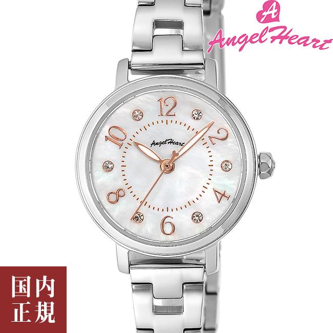 エンジェルハート 腕時計 レディース トゥインクルハート ソーラー ホワイトMOP/シルバー メタルブレス Angel Heart THN24SS 安心の正規品 代引手数料無料 送料無料 あす楽 即納可能