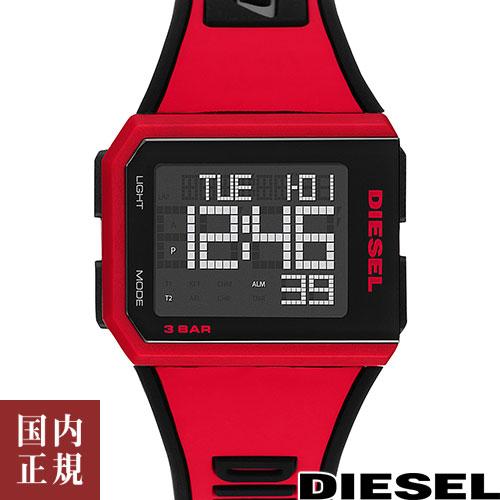 ディーゼル 腕時計 メンズ レディース チョップド 39mm デジタル マットブラック/レッド DIESEL CHOPPED DZ1923 安心の正規品 代引手数料無料 送料無料 あす楽 即納可能