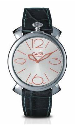 国内正規品 2年保証 GAGA MILANO ガガミラノ 腕時計 MANUALE THIN 46MM(マニュアーレ シン 46mm) SwissMade メンズ/レディース シルバー/ピンクゴールド 5090.01 代引手数料無料 送料無料