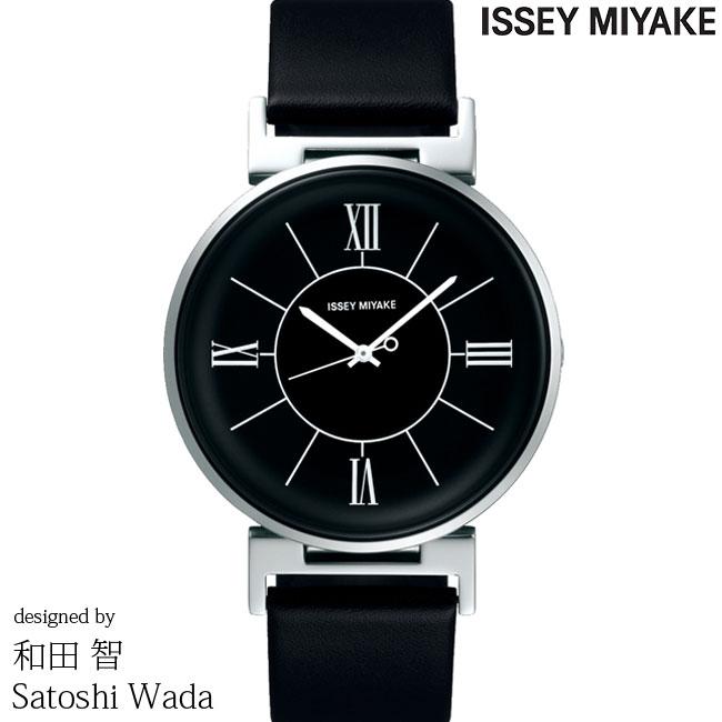 イッセイミヤケ 腕時計 和田 智 U ユー ブラック/ブラックレザー NYAL002 ISSEY MIYAKE SATOSHI WADA 安心の正規品 代引手数料無料 送料無料