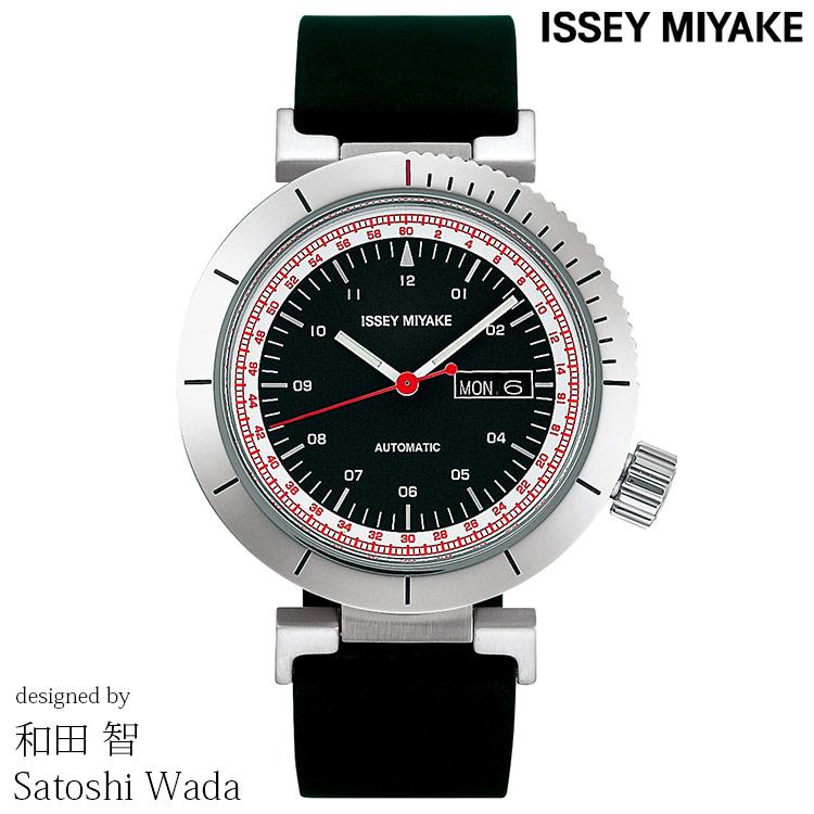 ISSEY MIYAKE イッセイミヤケ 腕時計 SATOSHI WADA 和田 智 W AUTOMATIC ダブリュオートマチック 自動巻き メンズ ブラック/シルバー/ブラックウレタン オートマチック NYAE002 正規品 代引手数料無料 送料無料