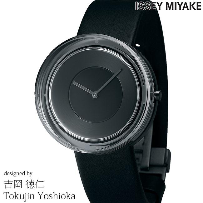 最大2,000円クーポンあり!スーパーSALE限定!ISSEY MIYAKE イッセイミヤケ 腕時計 吉岡徳仁 ガラスウォッチ 39mm メンズ レディース ブラック/ブラックレザー YOSHIOKA TOKUJINN Glass Watch NYAH002 安心の正規品 手数料無料 送料無料 即納可能
