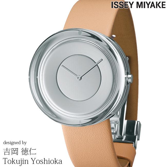 ISSEY MIYAKE イッセイミヤケ 腕時計 吉岡徳仁 ガラスウォッチ 39mm メンズ レディース シルバー/ナチュラルレザー YOSHIOKA TOKUJINN Glass Watch NYAH003 安心の正規品 代引手数料無料 送料無料