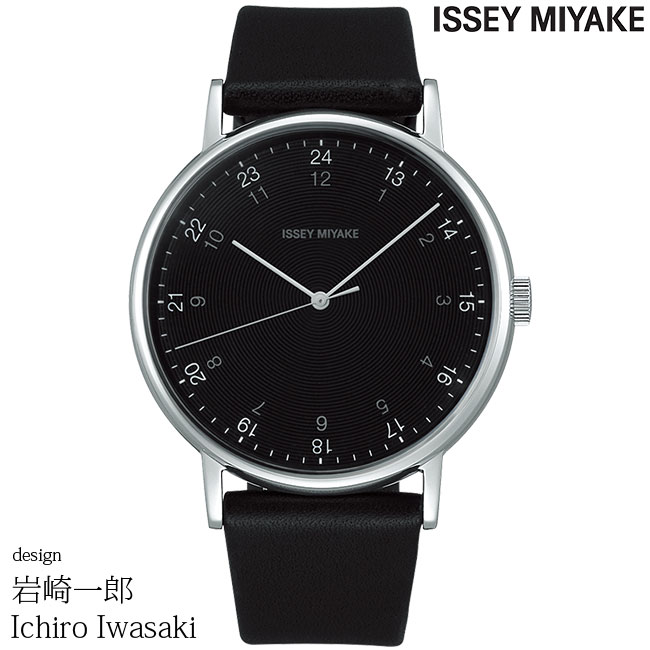 イッセイミヤケ 腕時計 岩崎一郎 f エフ ブラック/ブラックレザー NYAJ002 ISSEY MIYAKE ICHIRO IWASAKI 安心の正規品 代引手数料無料 送料無料 あす楽 即納可能
