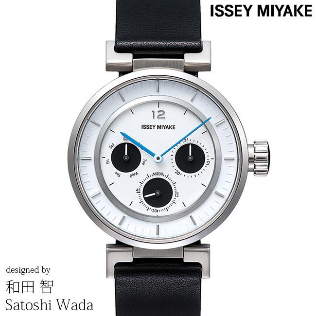 ISSEY MIYAKE イッセイミヤケ 腕時計 和田 智 W ダブリュ 39mm 多針アナログモデル メンズ レディース ホワイト/ブラック SATOSHI WADA SILAAB02 安心の正規品 代引手数料無料 送料無料
