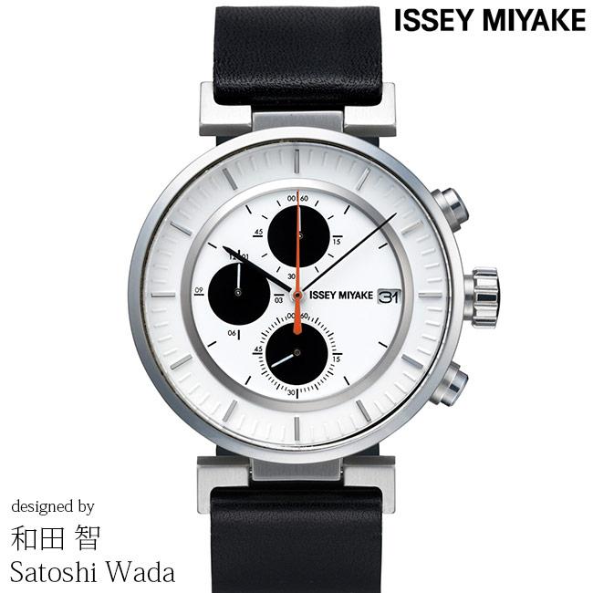 ISSEY MIYAKE イッセイミヤケ 腕時計 和田 智 W ダブリュ 43mm クロノグラフ メンズ レディース ホワイト/ブラック SATOSHI WADA SILAY003 安心の正規品 代引手数料無料 送料無料 あす楽 即納可能