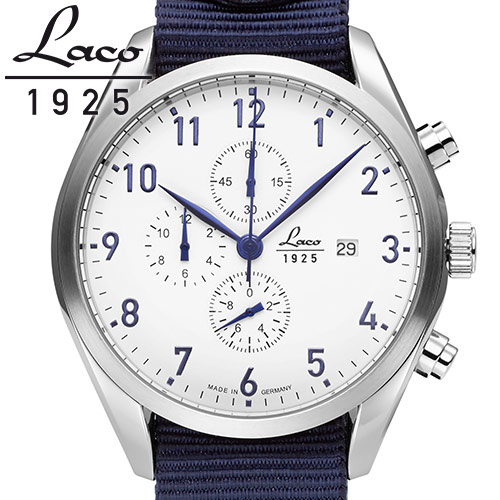 Laco ラコ 腕時計 メンズ クオーツ クロノグラフ ドイツ製 パイロットウォッチ ヘルゴラント Helgoland ref:861989 安心の国内正規品 代引手数料無料 送料無料