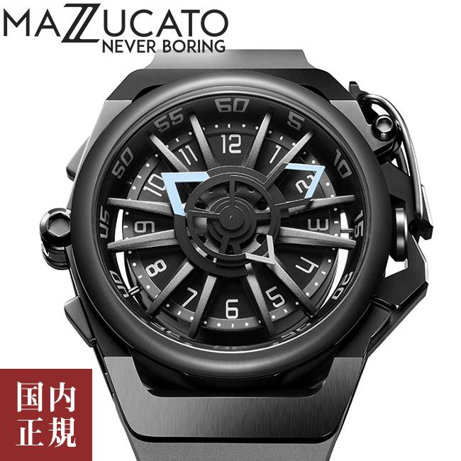 マッツカート 腕時計 メンズ リム オートマチック 48mm 自動巻き ブラック/グレー MAZZUCATO R.I.M. 03-GY536 安心の正規品 代引手数料無料 送料無料