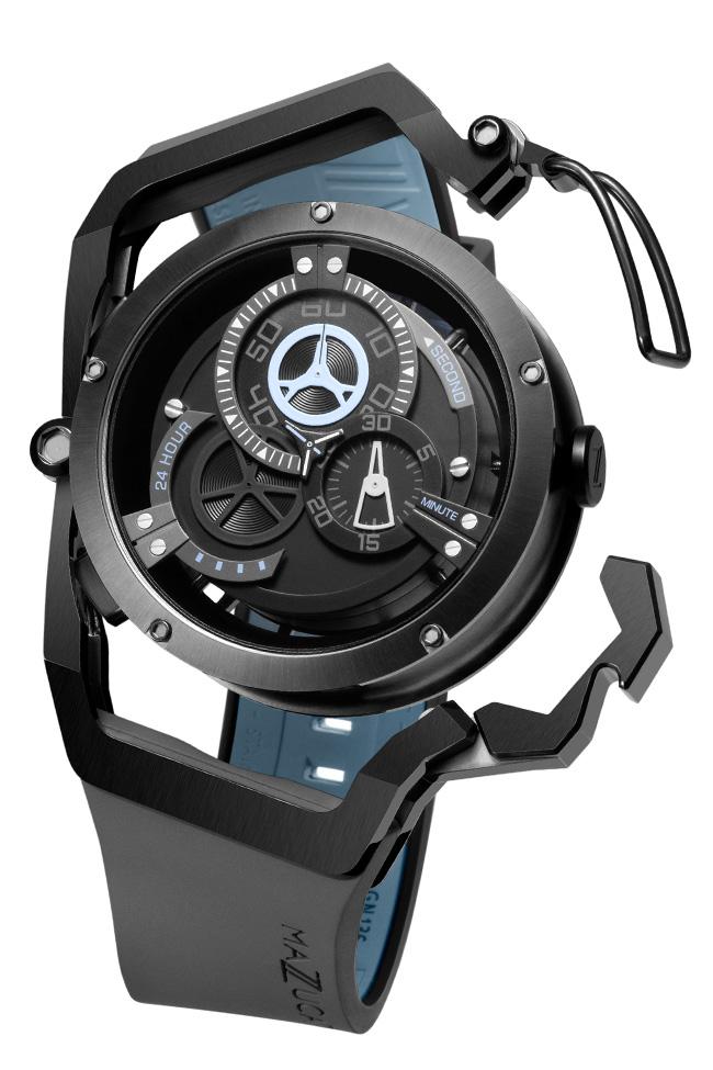 マッツカート 腕時計 メンズ リム オートマチック 48mm 自動巻き ブラック/グレー MAZZUCATO R.I.M. 03-GY536 安心の正規品 代引手数料無料