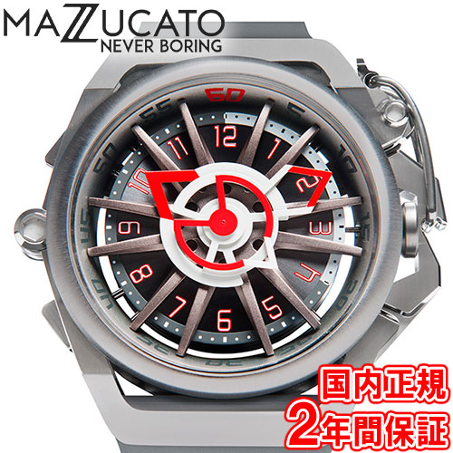 マッツカート 腕時計 メンズ リム オートマチック 48mm 自動巻き ガンメタル/グレー MAZZUCATO R.I.M. 09-GYWH 安心の正規品 代引手数料無料 送料無料