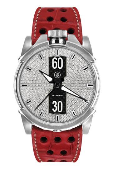【完売】CT スクーデリア DIAMONDS ダイアモンド 自動巻き メンズ腕時計 レッド/シルバー/ダイヤモンド CT SCUDERIA CS10206