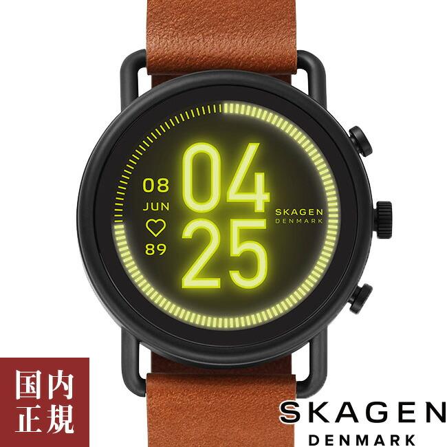 スカーゲン 腕時計 メンズ レディース タッチスクリーンスマートウォッチ ファルスター3 42.5mm ブラック レザー SKAGEN FALSTER 3 skt5201 安心の正規品 代引手数料無料 送料無料 あす楽 即納可能