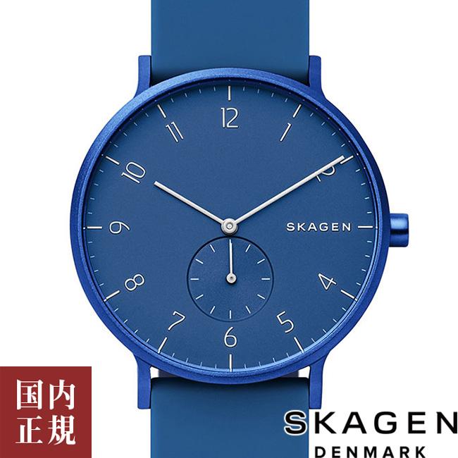 スカーゲン 腕時計 メンズ レディース SKAGEN AAREN アーレン アルミニウム・シリコン 41mm ブルー SKW6508 安心の正規品 代引手数料無料 送料無料 あす楽 即納可能