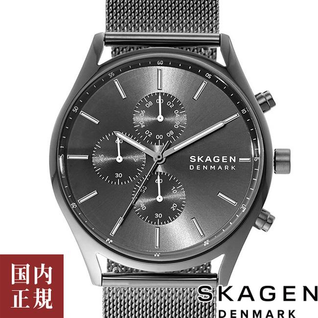スカーゲン 腕時計 メンズ ホルスト スチールメッシュ42mm グレー/ガンメタ SKAGEN HOLST SKW6608 安心の正規品 代引手数料無料 送料無料 あす楽 即納可能