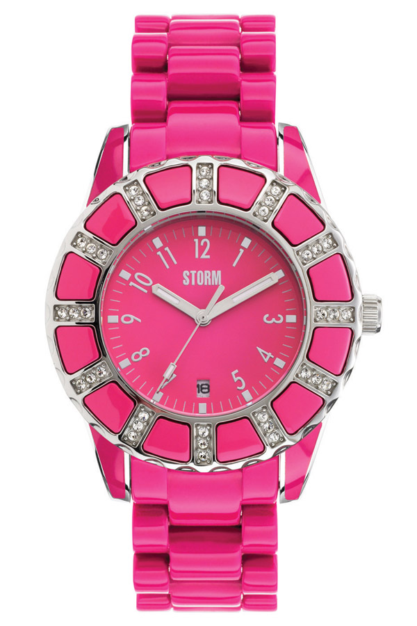STORM(ストーム) VESTA CRYSTAL(ベスタクリスタル) レディース腕時計 PINK×SILVER(ピンク×シルバー) 47028PK 安心の国内正規品 代引手数料無料 送料無料 A