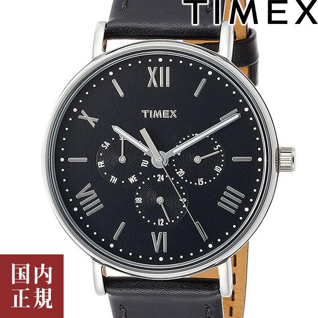 NewYearSALE限定 タイメックス 腕時計 メンズ レディース サウスビュー マルチファンクション 41mm レザー ネイビー/シルバー/ダークブラウン TIMEX TW2R29000 安心の正規品 代引手数料無料 送料無料 あす楽 即納可能