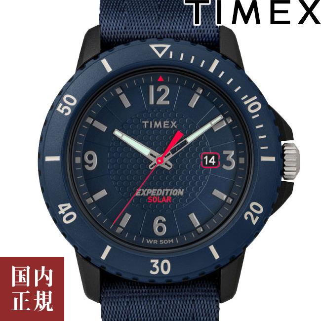 タイメックス 腕時計 メンズ ガラティンソーラー 45mm ファブリックNATO ブルー/ブラック/ブルー TIMEX TW4B14300 安心の正規品 代引手数料無料 送料無料 あす楽 即納可能