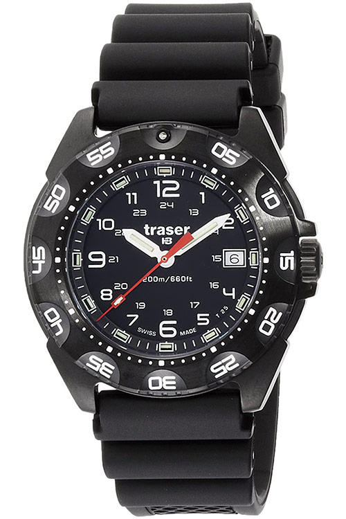 traser トレーサー 腕時計 トルネード プロ ブラック サファイア ラバーストラップ ミリタリーウォッチ スイス製 Tornado Pro 9031567 安心の正規品 代引手数料無料