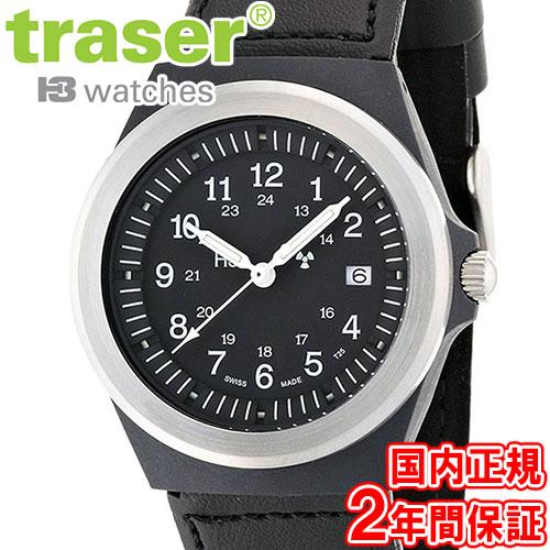 traser トレーサー 腕時計 タイプ3 ブラック テキスタイル/レザーストラップ ミリタリーウォッチ スイス製 TYPE3 Black P5900.506.33.11 9032001 安心の正規品 代引手数料無料 送料無料