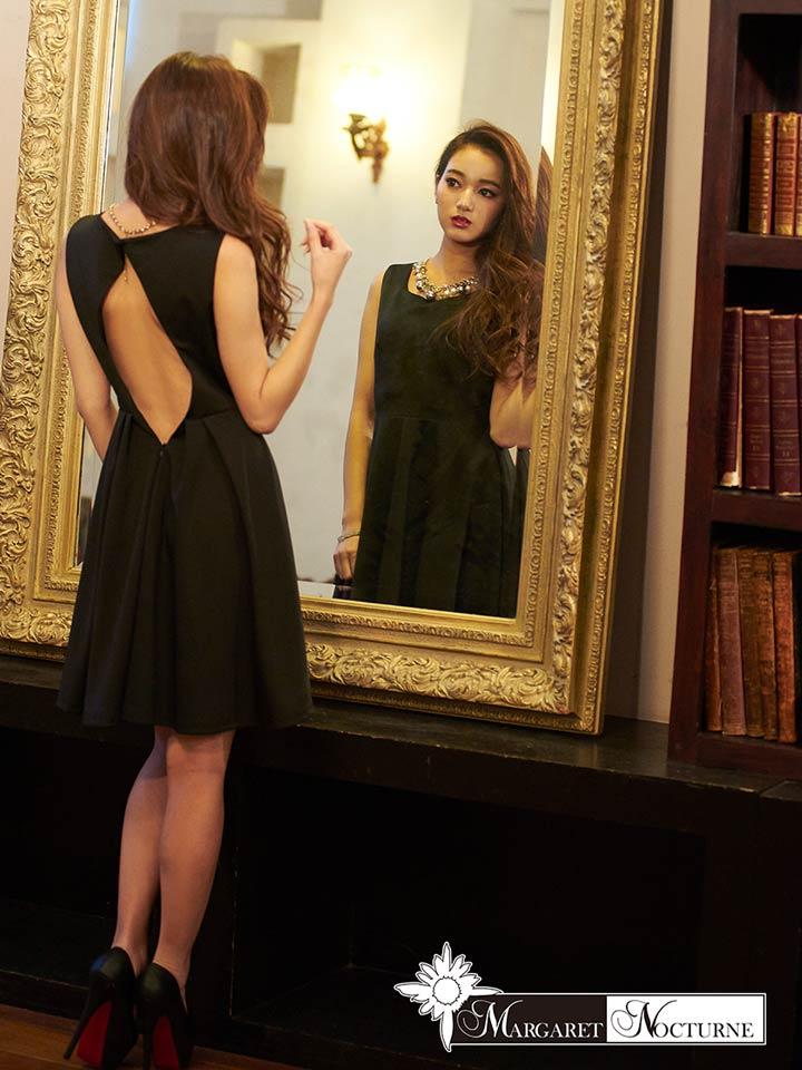 8d86fcbe70240 ドレス ミニ ミニドレス レディース ladies dress minidress 大人 女性 GACKT MARGARET NOCTURNE S M  L バックホール