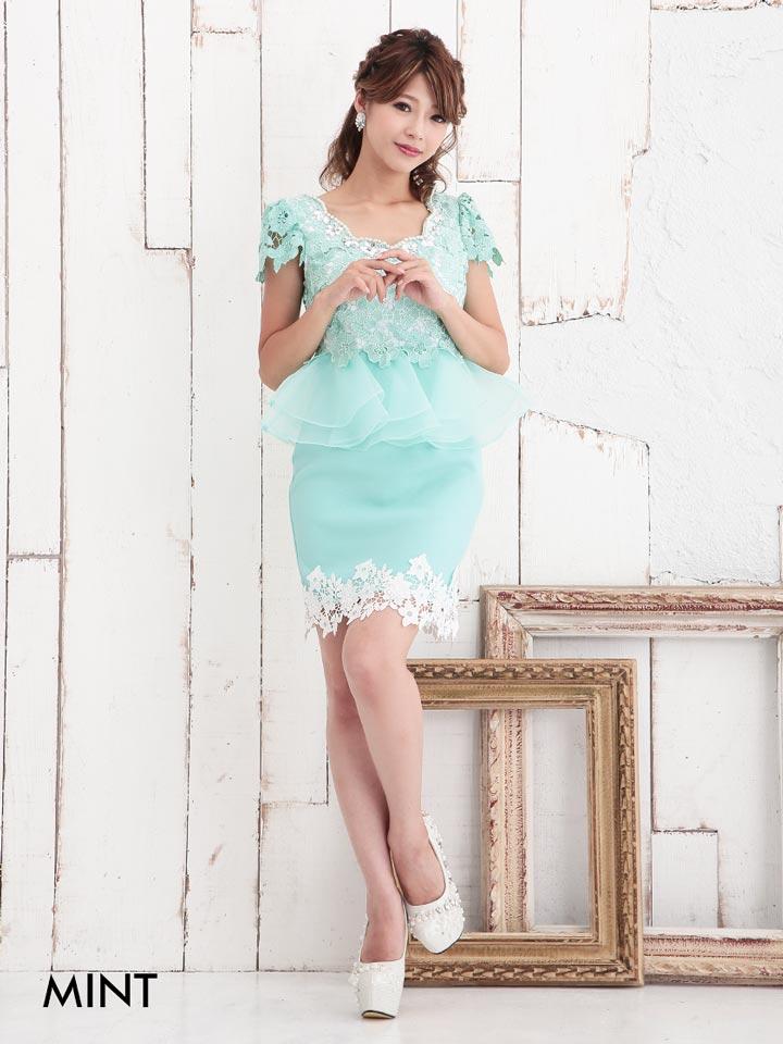 b9df38b4bf7e7 袖付き 半袖 ドレスキャバミニドレス Jasmine  SMサイズ パール ビジュー付胸元 ...