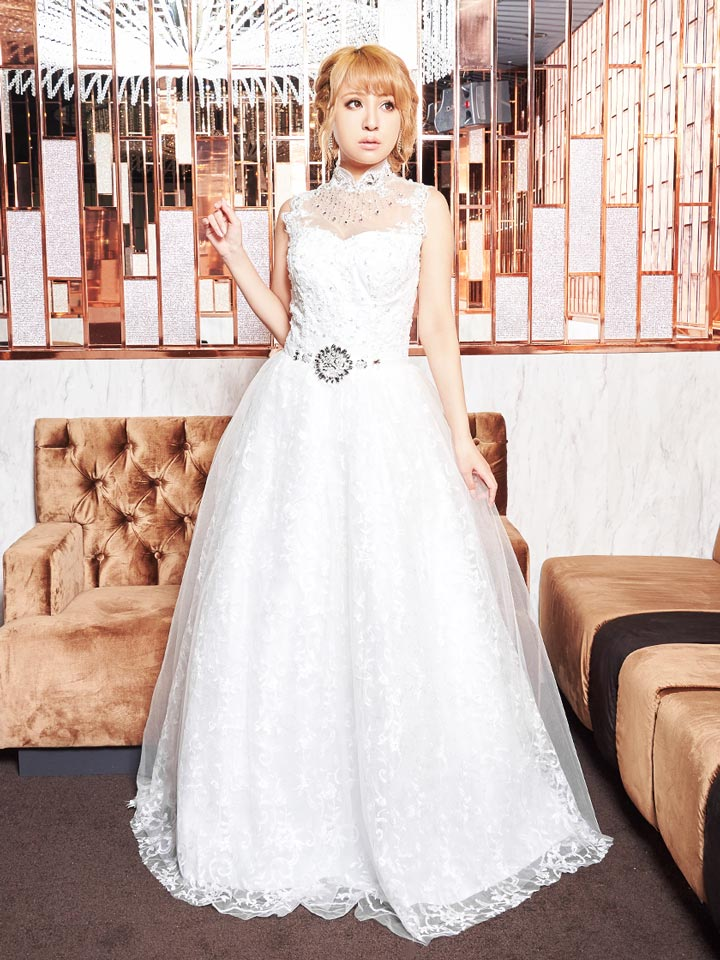 a4f03af02b506 ... 送料無料ドレスキャバドレスナイトドレス大きいサイズ Mサイズ デコルテ透けウエスト ...