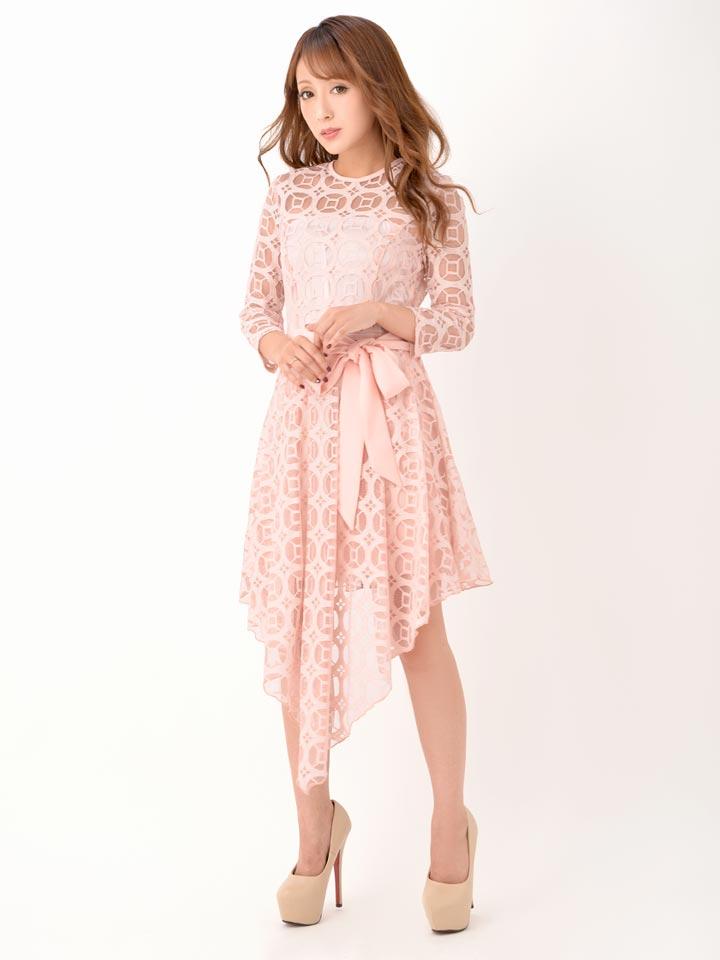 0638141e0c451 ... レース袖 送料無料ドレスキャバドレスナイトドレス大きいサイズ SMLサイズ リボンベルト付き ...