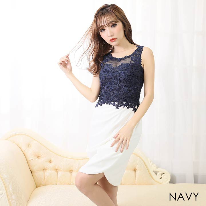6d93bad30eb07 ... キャバドレスミニキャバドレスワンピースナイトドレス刺繍レースタイトドレスSM白紺青ピンク ...