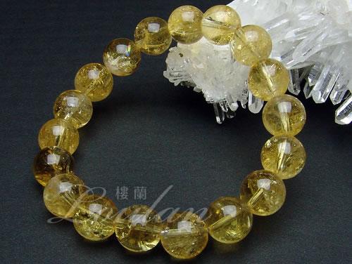 シトリン(黄水晶)10mmAAA【和龍ブレス 2100-10-310-0】天然石 パワーストーン ブレスレット ブレス