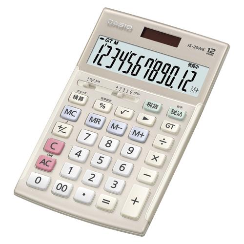 [カシオ]エレガント実務電卓 JS-20WK-GD