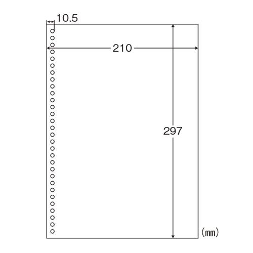 [ヒサゴ]A4白紙 30穴 2500枚入り BPE2049