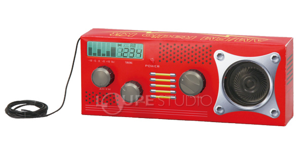Study summer vacation homework toy primary schoolchild junior high student  free to do the scientific work AM/FM radio assembling kit set cognitive
