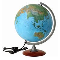 【20日限定クーポン配布中】地球儀 ライト付き 子供用 学習 インテリア スペース30L 入学祝い 小学校 地勢図 球径30cm イタリア製