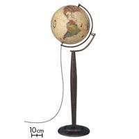 【20日限定クーポン配布中】地球儀 インテリア アンティーク マルコポーロ37 フロアスタンド 和文 行政図 球径37cm イタリア製