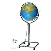 【お買い物マラソン クーポン配布中】ライト付き 地球儀 インテリア ジーオ50 地勢図 球径50cm イタリア製