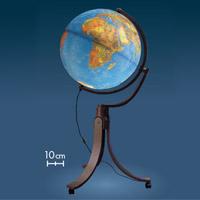 【お買い物マラソン クーポン配布中】地球儀 ライト付き インテリア リベラ50 地勢図 球径50cm イタリア製
