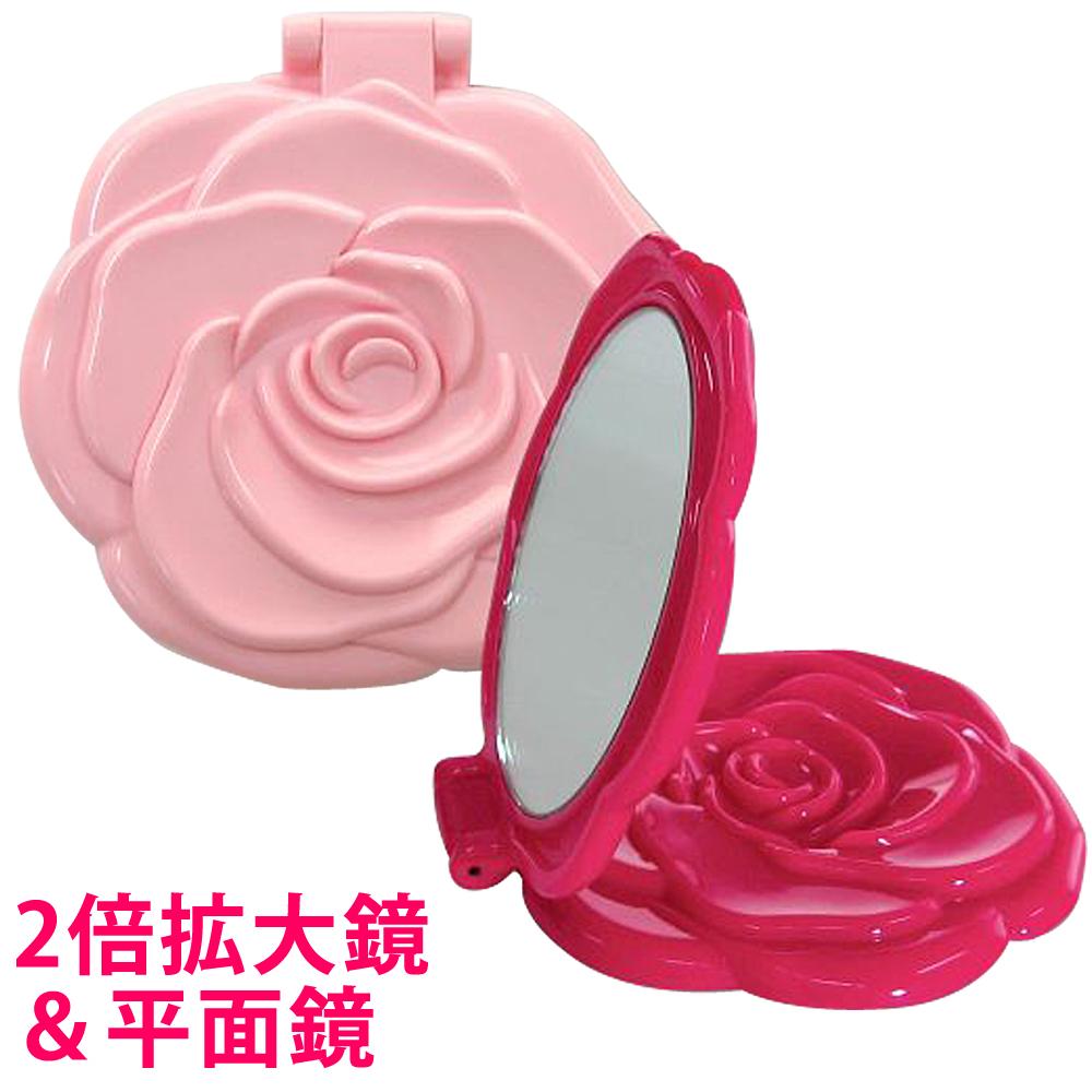 メール便可 拡大鏡 もついた カワイイ 高級 コンパクトミラーです ダブルコンパクトミラー 乙女 老眼 メイク 通販 激安 ロマンチックローズ 折りたたみ 2倍 薔薇