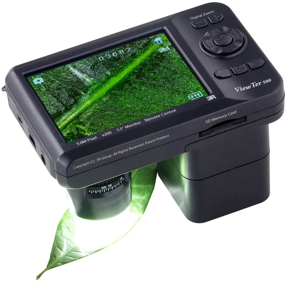 携帯式 デジタル顕微鏡ViewTer 10~200倍 3R-VIEWTER-500 デジタル マイクロスコープ 美容 エステ 皮膚 頭皮 印刷 繊維