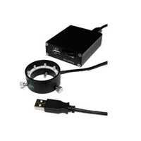 エヌエスライティング USB LED照明 コントローラーセット φ50リングUSB LED照明セット LED 24灯 LRF-66/50W-USB501SET