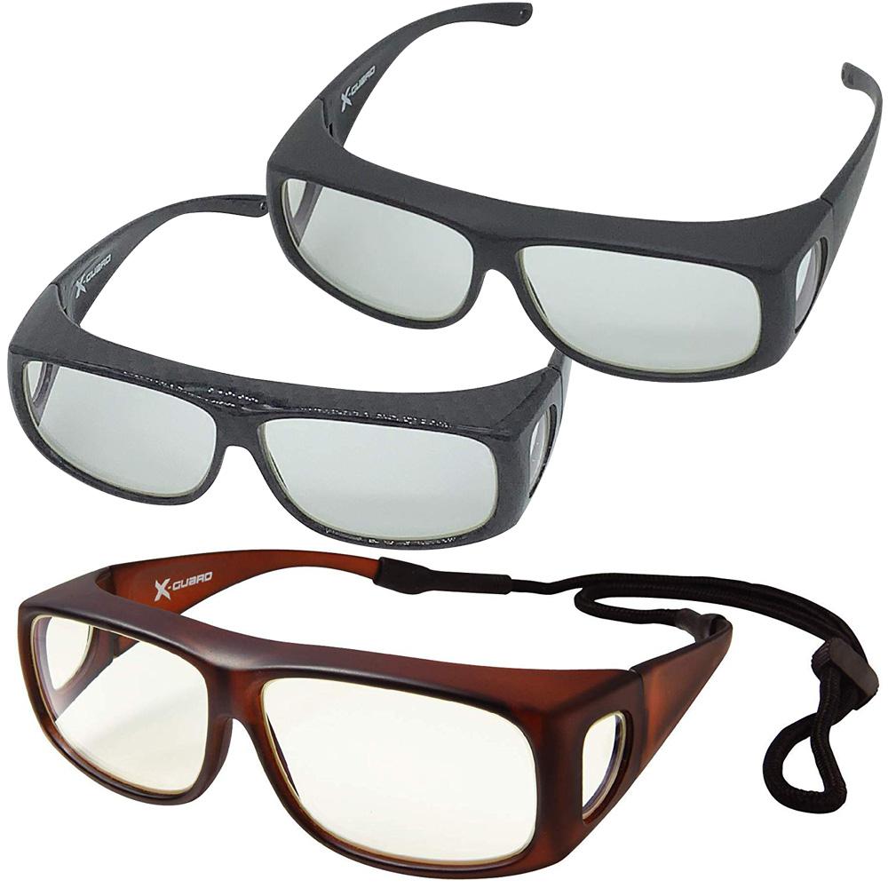 眼鏡の上からかけられる 激安挑戦中 安全メガネ 水晶体 被ばく 対策 予防グッズ x-guard 放射線防護グラス エックスガード 医療用 即納 病院 黄砂 白内障予防 レントゲン 保護メガネ 昭和光学 ゴーグル