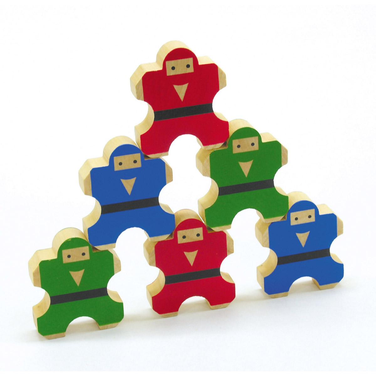 ゲーム のりのり忍者 子供 キッズ ゲーム おもちゃ 木製玩具 木のおもちゃ バランスゲーム 知育玩具 3歳 4歳 5歳 6歳 療育 OT 手先の訓練 作業療法