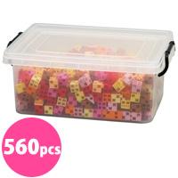 ブロック おもちゃ アーテックブロック ウォームカラーセット 立体文字・モニュメント作品 560pcs アーテック 日本製 カラーブロック 日本製 ゲーム 玩具 レゴ・レゴブロックのように自由に遊べます