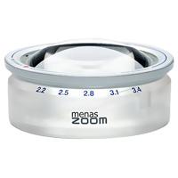 【お買い物マラソン クーポン配布中】ズーム式置き型 ルーペ 14388 メナス・ズーム ペーパーウェイト 文鎮 虫眼鏡 [menas zoom] 2.2X・2.5X・2.8X・3.1X・3.4X 65mm 倍率を変えられる エッシェンバッハ