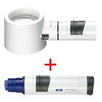 虫眼鏡 置き型 ライトルーペ [system vario plus] ヘッド+LEDライト付グリップのセット 5倍 58mm 155394 エッシェンバッハ